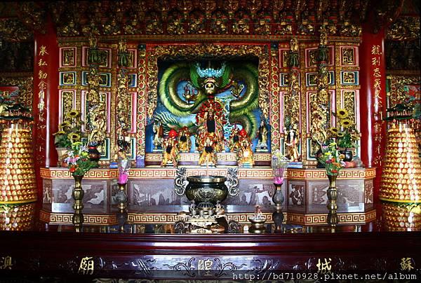 蘇澳城隍廟正殿,主祀:城隍爺康大人