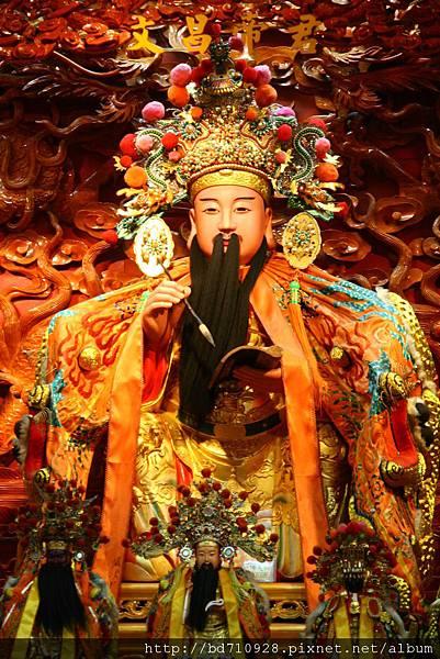 四結福德廟後殿二樓文昌帝君聖像
