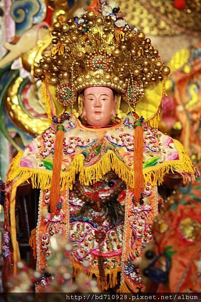 木柵集應廟申國夫人老媽聖像。今年適逢張尪公老媽駐駕坪頂集應廟。