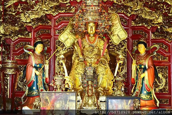 南方澳南天宮三樓正殿金媽祖聖像