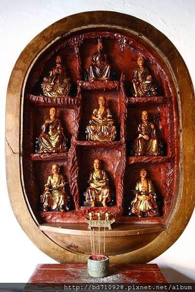 南投慈雲寺虎側十八羅漢尊者聖像