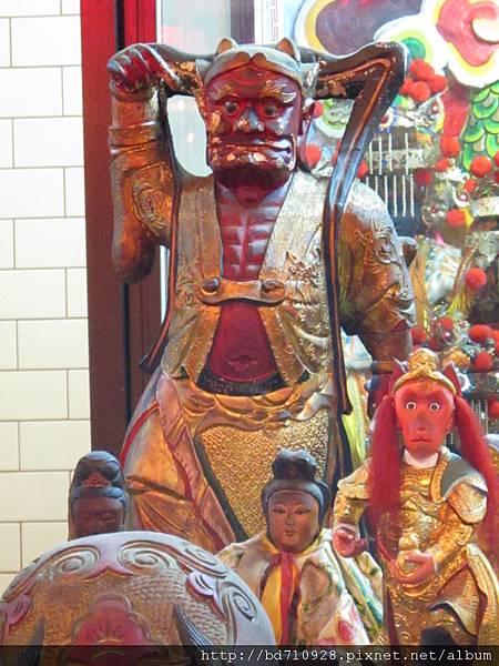 台北林口永興宮順風耳將軍聖像