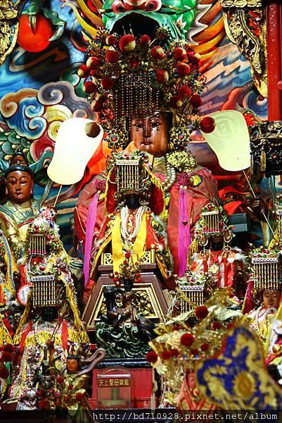 南方澳進安宮鎮殿媽祖、開基黑面媽祖聖像
