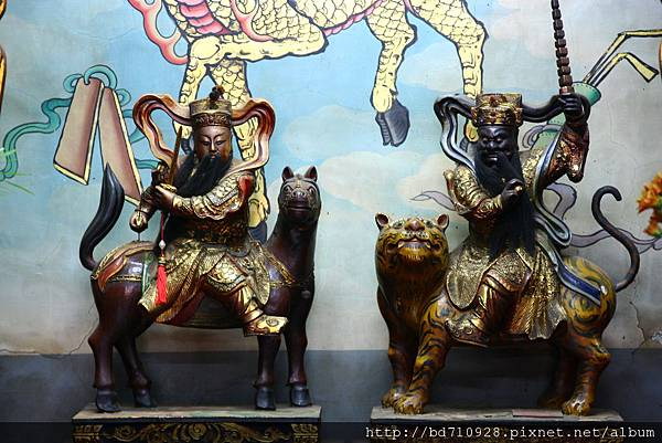 台中元保宮趙、康元帥聖像