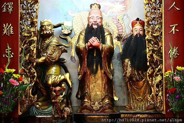 台中元保宮至聖先師、文昌帝君、魁斗星君聖像