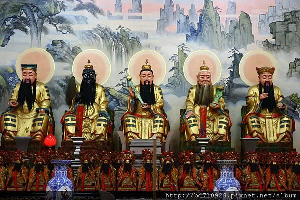 台中元保宮五斗星君聖像