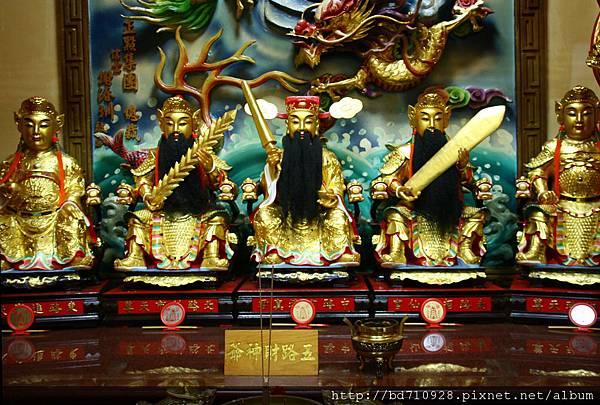 台中都城隍廟五路財神聖像