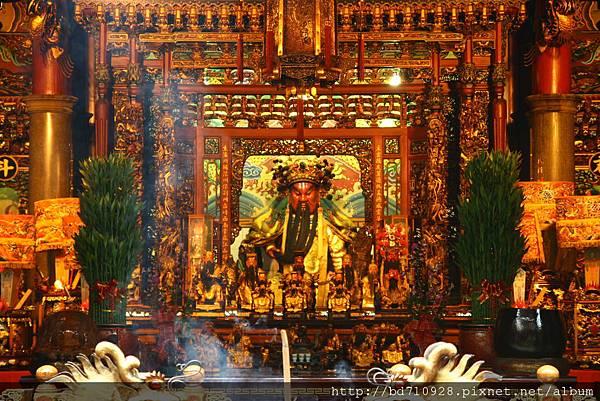 台中南天宮正殿,主祀:關聖帝君