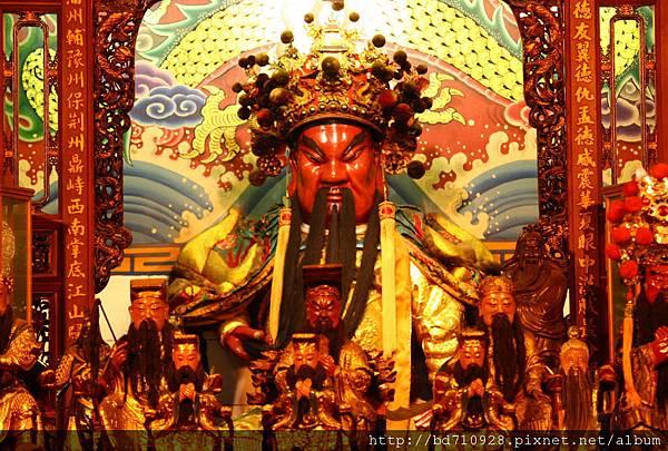 台中南天宮鎮殿關聖帝君聖像