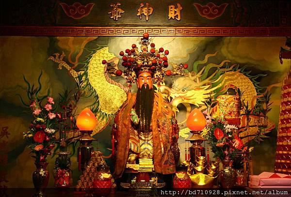 台中南天宮後殿,奉祀:財神爺