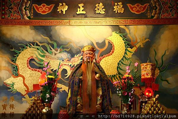 台中南天宮後殿,奉祀:福德正神