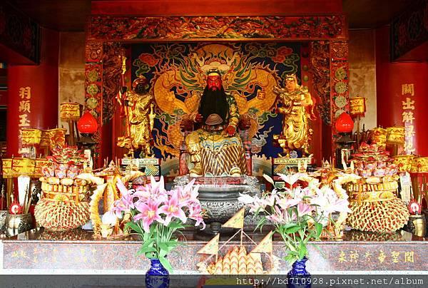 台中南天宮千聖殿,主祀:關聖帝君