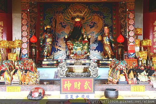 台中南天宮武財殿,主祀:關聖帝君武財神