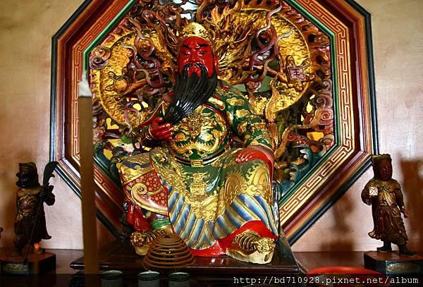 台中南天宮財神殿關聖帝君聖像