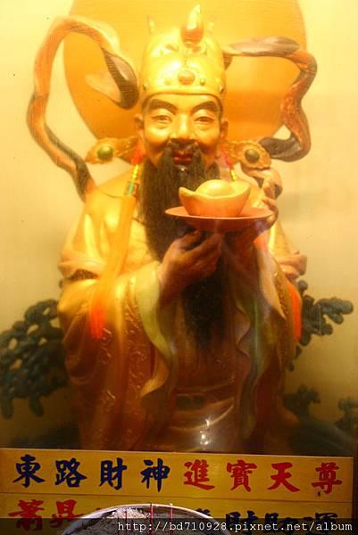 台中南天宮財神洞東路財神(進寶天尊)聖像