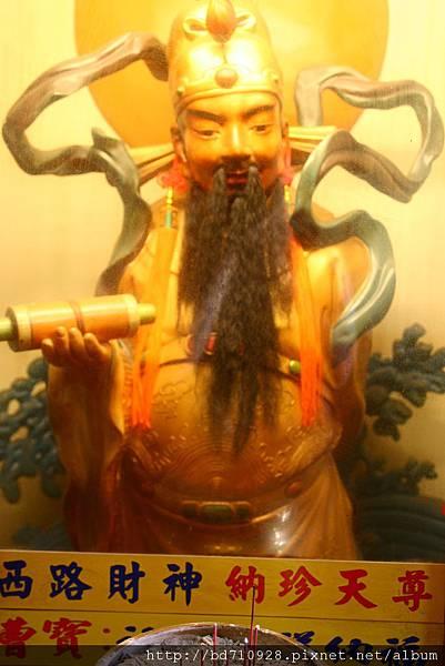 台中南天宮財神洞西路財神(納珍天尊)聖像