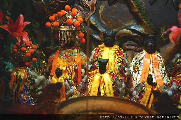 台北老祖天德宮觀音佛祖、天上聖母、註生娘娘聖像