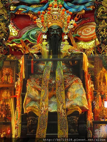 艋舺金義宮鎮殿軟身蕭府王爺聖像