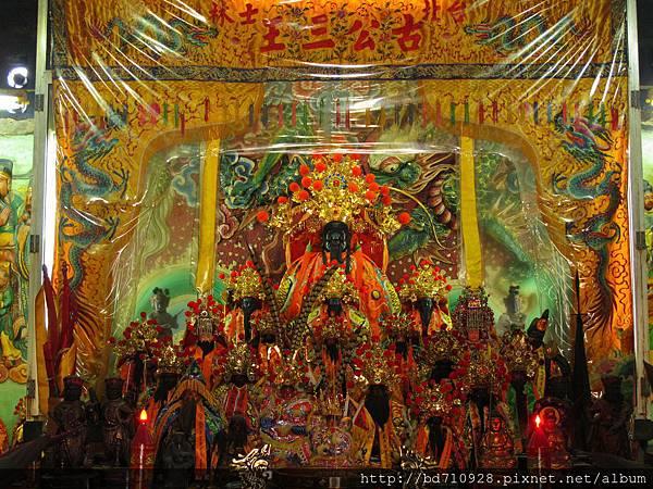 北投洲美三王宮正殿列位神佛聖像