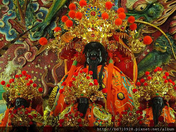 北投洲美三王宮古公三王聖像