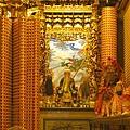 慶安宮正殿龍邊神龕,奉祀:太上道祖、北斗星君、南斗星君