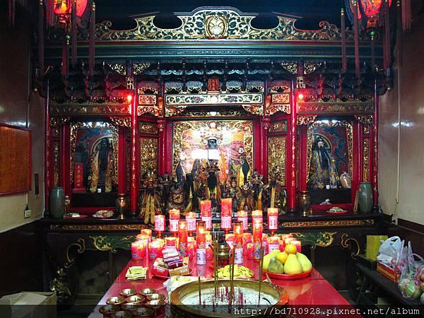 艋舺大眾爺廟正殿,主祀:大眾爺