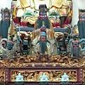 南投藍田書院濟化堂(上排)司命真君、關聖帝君、孚佑帝君、(下排)柳天君、文昌帝君、王天君聖像