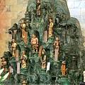 淡水福佑宮正殿龍側十八尊者聖像