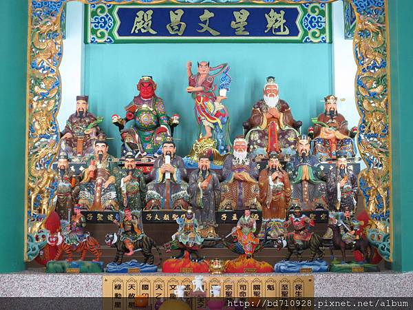 中寮玄義宮「魁星文昌殿」列位神佛聖像