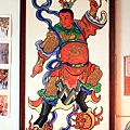 廟內龍側李哪吒三太子畫像