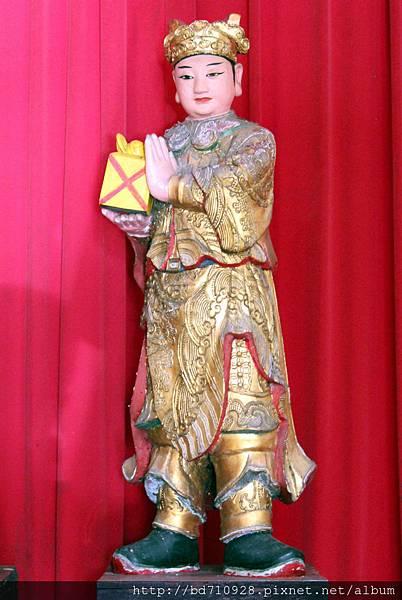 泥塑捧印童子聖像