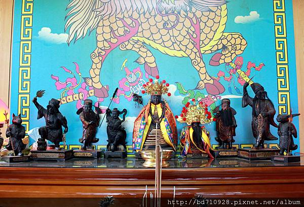 竹山靈德廟偏殿列位神佛聖像