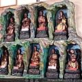 竹山連興宮後殿二樓龍側十八尊者聖像