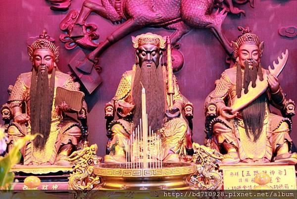 西路財神、中路財神、南路財神聖像