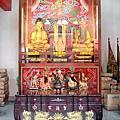 聖德宮天上聖母殿虎邊神龕,奉祀:儒、道、釋三教教主