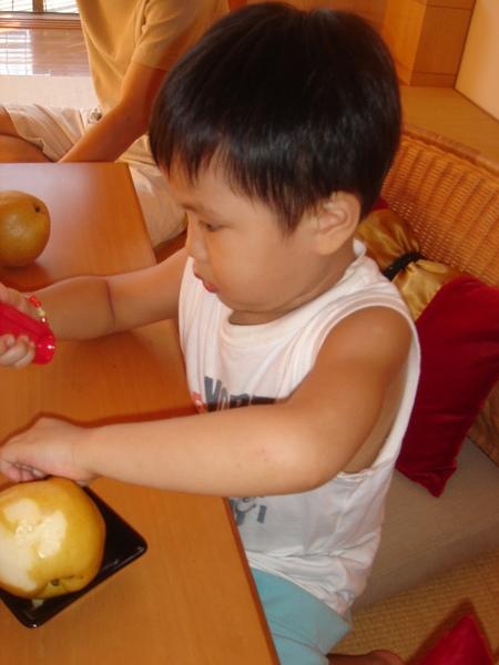 礁溪老爺-我會削蘋果