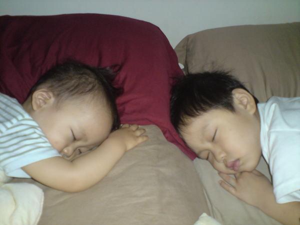 原來是跟弟弟睡香香
