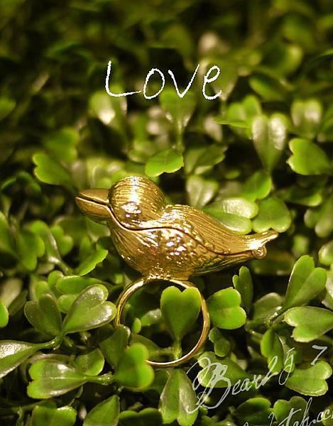 R01 森林系小鳥戒指