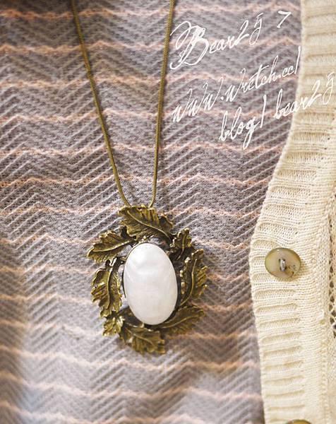 N06 莨苕卷邊珍珠項鍊