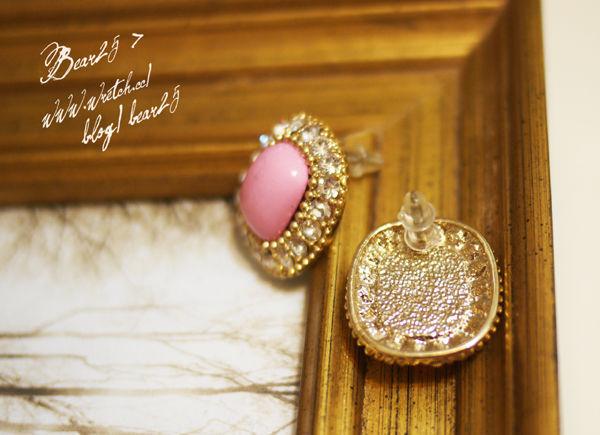 E04 水鑽寶石耳環