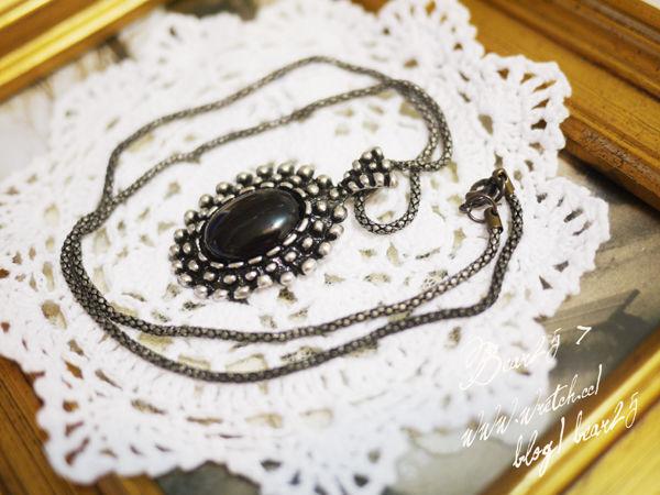 N04 復古寶石項鍊(黑)
