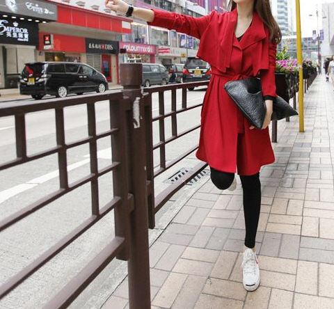 c06-1 紅色、黑色兩色 肩寬39、胸50.5、袖長57.5、衣長98  NT2550