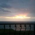 陽台上的日出