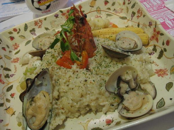 白雪公主檸檬奶油燴海鮮飯