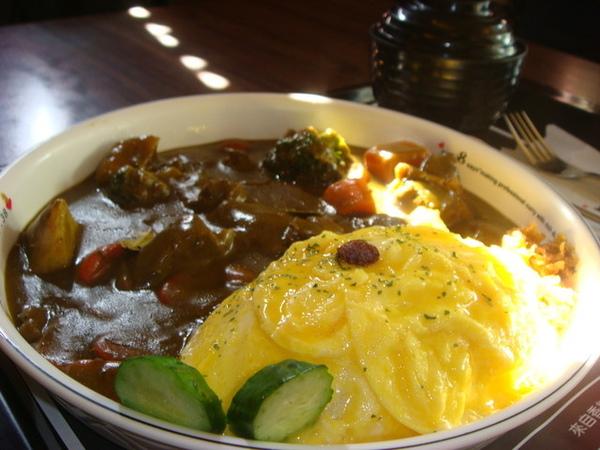 嫩雞咖哩飯(加日式滑蛋)