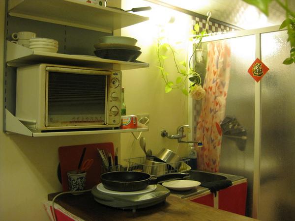 民宿內的簡易廚房