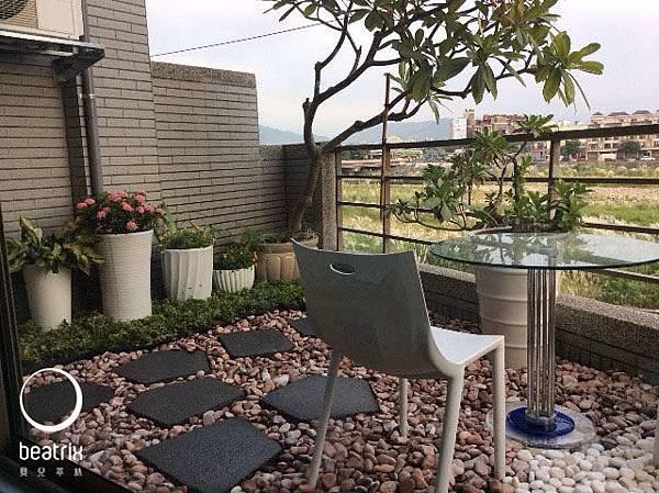 戶外景觀休憩區,都市少有的空中庭園