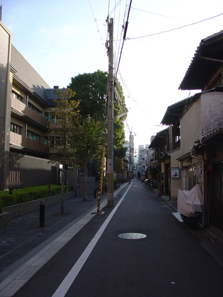民宿外的街道
