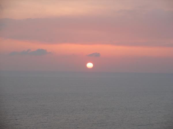 關山看日落