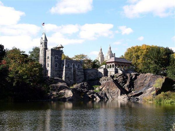 二月紐約中央公園瞭望台城堡.JPG